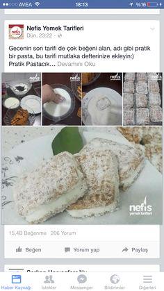 Eti Burçak Bisküvi , pasta kreması süt damla çikolata. Çok kolay Turkish Recipes, Cake Recipes, Cooking Recipes, Baking, Fruit, Sweet, Desserts, Food, Kitchens