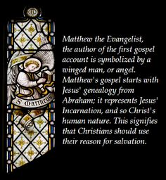 Symbols of the Four Evangelists: Matthew (winged man), Mark (lion), Luke (ox) and John (eagle)