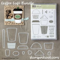 Stampin' Up! all New Coffee Cafe Bundle, Item 145331 Create perfect cards for your coffee drinking friends. Coffee Break Suite of Product. Check out my blog. www.stampinhoot.com #stampinup #stampinhoot #stesha #coffee #handmadecards #papercrafts