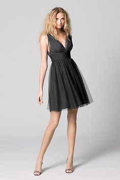 A-line V-neck cocktail dress, style 333, $ 198, Wtoo | Watters.com. Little black dress #LBD