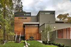 Lakefront Residence by Moore Architects  Like the combo of materials and colors.