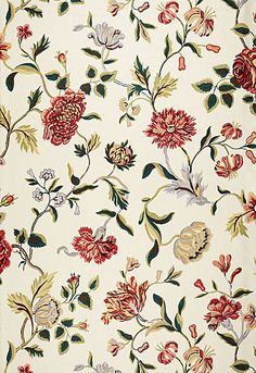 174520 Avebury Floral Vine Document Rose by Schumacher Fabric Textile Patterns, Textile Prints, Textile Design, Flower Patterns, Fabric Design, Print Patterns, Indian Prints, Motif Floral, Floral Print Fabric