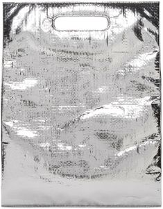 Helmut Lang. Silver Freezer Bag Clutch.