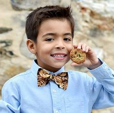 Chocolate chip cookie bow tie
