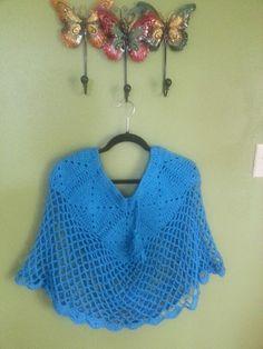 Poncho Capita a Crochet