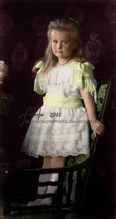 Grand Duchess Anastasia Nikolaevna Romanova of Russia (1900-1918), fourth child and daughter of the last Russian Tsar Nicholas II. Description from pinterest.com. I searched for this on bing.com/images