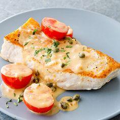 pan seared swordfish with creamy dijon caper sauce