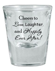 60 Personalized Wedding Favor Glass Shot Glasses by Factory21, $87.00