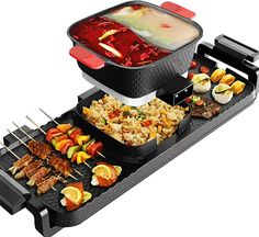 Amazon.com: Electric Grill Indoor Hot Pot, 4L Electric Barbecue Stove Multifunctional Shabu Shabu Pot Korean BBQ Grill Smokeless 3 in 1 Non-Stick Pan Separate Dual Temperature Control for 2-8 People: Home Improvement Barbecue Grill, Korean Bbq Grill, Grilling, Shabu Shabu, Electric Bbq Grill, Pan Sizes, Indoor Grill, Teppanyaki, Non Stick Pan