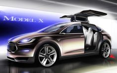 Beauty tesla modelx