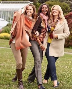 We're swooning over these #fall outfits from @Talbots. Welcome the season in style.