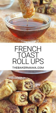 Easy to make and fun to eat, these delicious french toast roll ups are a creative breakfast treat for any day of the week! Easy to make and fun to eat, these delicious french toast roll ups are a creative breakfast treat for any day of the week! Breakfast Items, Sweet Breakfast, Breakfast Dishes, Breakfast Casserole, French Breakfast Foods, Simple Breakfast Recipes, Yummy Breakfast Ideas, Breakfast Cupcakes, Easy To Make Breakfast