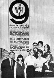 Programa TELETEATRO DE LAS 19, Canal 9, Buenos Aires, década del 60.