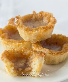 ArtandtheKitchen: Old Fashioned Butter Tarts - with made from scratch flaky tart crusts