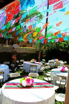 mexican fiesta party set up