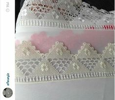 This Pin was discovered by Ayş Needle Lace, Needle And Thread, Crochet Hammock, Point Lace, Needlepoint, Lace Shorts, Crochet Top, Knitting Patterns, Diy And Crafts