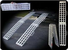 Made In America Loading Ramps - - Lightweight all aluminum ramps fold to half their length for easy storage and transport. Car Ramp, Rust Free, Truck Bed, Motor Car, Quad, 4x4, Chevy, Innovation, Beach Houses