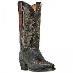 Dan Post Ladies Distressed Black Betty Snip Toe Boots