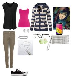 Untitled #83 by vhinvest on Polyvore featuring polyvore, fashion, style, T By Alexander Wang, Oasis, Converse, Rock 'N Rose, Oliver Peoples, Eos, 7 For All Mankind and Avenue