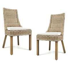 Jofran Hampton Road Dining Chair with Cushion - Set of 2