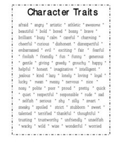 3rd Grade Character Traits - Lessons - Tes Teach