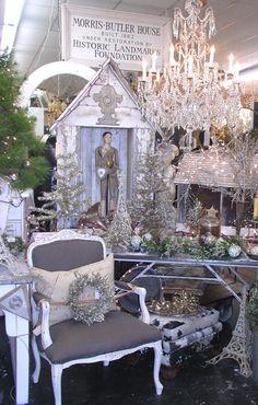 Christmas booth