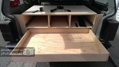 expedition rig build out - Page 13 - Jeep Cherokee Forum - I like this set up for the rear 1 to feet of my van. Jeep Rubicon, Jeep Wrangler, Truck Bed Storage, Diy Jeep Storage, Jeep Wk, Jeep Xj Mods, Jeep Camping, Jeep Commander, Jeep Patriot