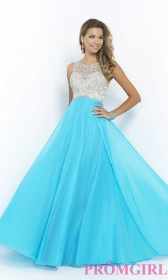 Image of High Neck Beaded Prom Gown by Blush 9917 Style: BL-9917 Front Image