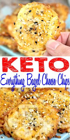Keto Chips - BEST Low Carb Everything Bagel Cheese Chip Recipe {Easy - Homemade}! Fire up your ovens for these keto cheese chips that are so tasty & delicious. Quick keto cheese chips low carb recipes. Perfect keto cheese chips snacks to eat by themselves or dip in your favorite keto friendly ranch dressing, salsa or dipping sauce.Cheese treats: mozzarella, Parmesan, cheddar topped w/ everything bagel seasoning. Gluten free No coconut flour or almond flour. Click to see this favorite keto…