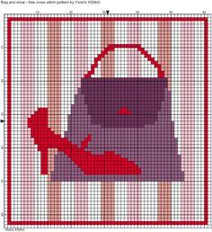 SHOE and purse x-stitch