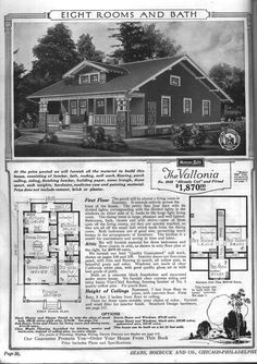the vallonia | bungalow floor plans modern home no 3049 the vallonia from the sears ...