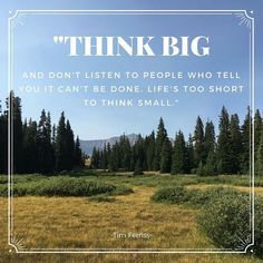 We couldn't agree more. Think Small, Think Big, Tim Ferriss, Utah, Told You So, Concept, Marketing, Amazing, Instagram Posts