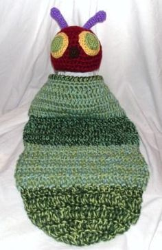 The Very Hungry Caterpillar Crochet Hat and by aStitchSouth, $36.00