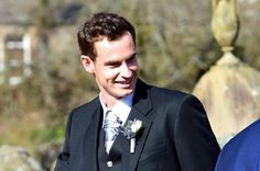 Andy Murray arriving for his big day at Dunblane Cathedral, Scotland April 11, 2015
