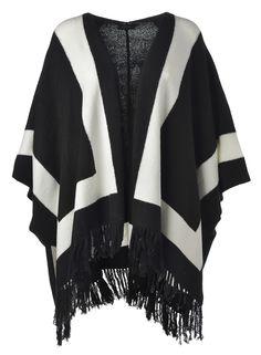 Great Girlsin Mustavalkoinen poncho on täydellinen viileneviin iltoihin. Kimono Top, Tops, Women, Fashion, Moda, Fashion Styles, Fashion Illustrations, Woman