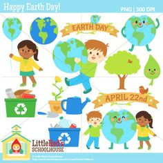 Clip Art - Happy Earth Day! - spring-themed clipart