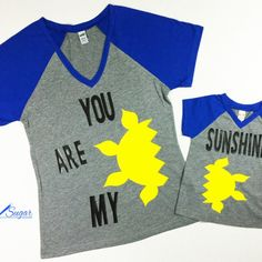 You are my sunshine, Mommy & Me shirts, Gifted Sugar