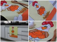 Artes Mariana Santos: Pintura em tecido - A Galinha Fifi esta pronta!!!!...