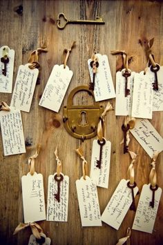 """I've started ordering skeleton keys for our """"guest book"""". Keys to a successful marriage! By True Photography Weddings!"""