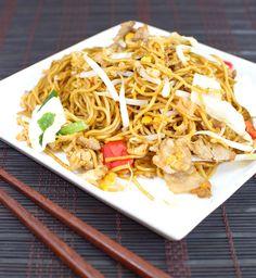 Chinese Recipe: Pork Lo Mein