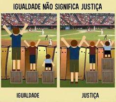 Igualdade não significa justiça