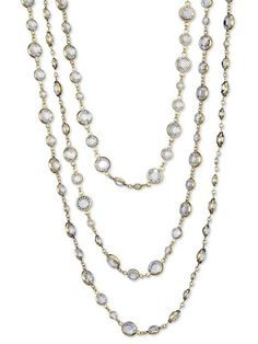 Faux Diamond Station Necklace - Best Sellers - Jewelry