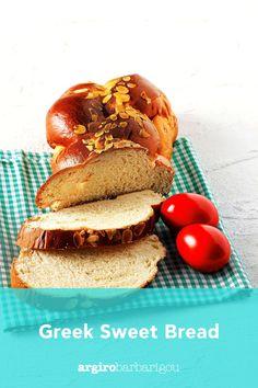 The most delicious, fluffy sweet bread for Easter! #argiro #argirobarbarigou #easter #greek #sweetbread #tsoureki Greek Easter, Easter Recipes, Sweet Bread, Breakfast, Food, Morning Coffee, Essen, Meals, Yemek