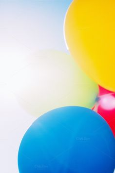 Balloons in the sun by Hello Goodbye Studio