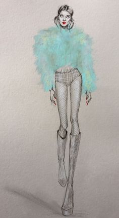 #Model #BlancaPadilla @glamnicism #fashionillustrations |Be Inspirational ❥|Mz. Manerz: Being well dressed is a beautiful form of confidence, happiness & politeness