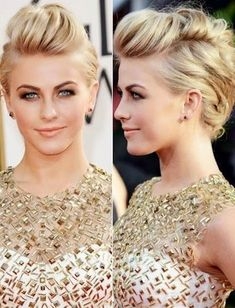 Blonde Bouffant Up Do- hairstyles for medium hair length