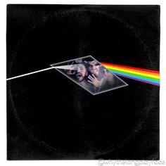 Pink Floyd 'Dark Side of the Moon'/ Superman 2 (General Zod, Phantom Zone) Mash Up Parody Album Cover Vinyl Cover, Cover Art, Phantom Zone, Superman 2, General Zod, Pink Floyd Dark Side, Music Film, Silver Age, Vinyl Art