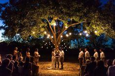 Upton Wedding // November 2, 2012 // Vintage Hipster Wedding // Romantic ceremony at dusk under a pecan tree//
