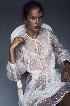 the Zimmermann Belle Dot Web Dress from Resort Swim there style and spirit! Dress Skirt, Lace Dress, Dress Up, White Dress, Dot Dress, Lace Skirt, Tulle Lace, White Lace, Boho Fashion