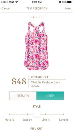 Stitch FIx Brixon Ivy Obdulia Keyhole Back Blouse. I love Stitch Fix! A personalized styling service and it's amazing!! Simply fill out a style profile with sizing and preferences. Then your very own stylist selects 5 pieces to send to you to try out at home. Keep what you love and return what you don't. Only a $20 fee which is also applied to anything you keep. Plus, if you keep all 5 pieces you get 25% off! Free shipping both ways. Schedule your first fix using the link below! #stitchfix…